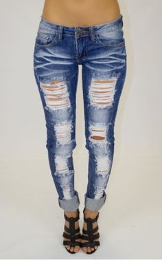 distressed jeans for women