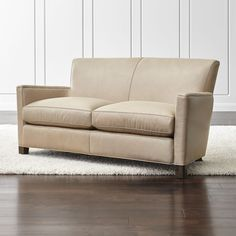 Briarwood Leather Loveseat - Crate and Barrel
