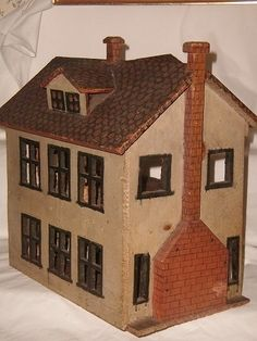 Antique German Wooden Doll House Circa 1870 1890