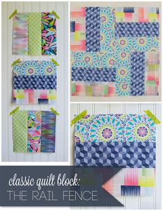 Rail Fence Block - so easy!
