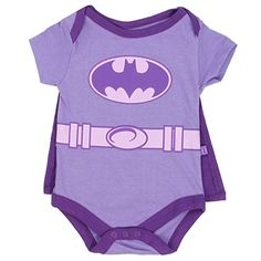 7dd5465f2 Batgirl Infant Baby Girls Creeper Onesie Bodysuit Snapsuit With Cape 69 mo  Purple ** Want · Batman Baby ClothesBatman ...