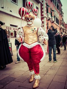 These photos were taken in Venice during the carnival in 2015.