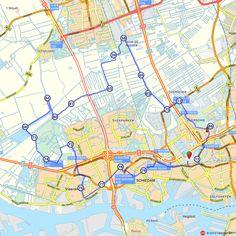 """Fietsroute: De Van Nelle Fabriek: industrieel icoon in Rotterdam  Rotterdam is onbetwist dé architectuurstad van Nederland.  """"De Van Nellefabriek is één van die iconen; een gebouw dat uniek is voor zijn tijd, in materiaal en vorm en vanuit sociaal oogpunt"""". De nieuwe status van het complex ziet hij als een geschenk voor alle toekomstige generaties.  Dit prachtige gebouw is een voorbeeld van hoe monumenten bewaard en levend gehouden kunnen worden voor volgende generaties."""