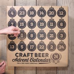 The Craft Beer Advent Calendar Is The Ultimate Christmas Countdown Alcohol Advent Calendar, Craft Beer Advent Calendar, Advent Calendar 2015, Beauty Advent Calendar, Advent Calenders, Advent Calendar Ideas For Adults, Beer Christmas Gifts, Christmas Countdown, Christmas Ideas