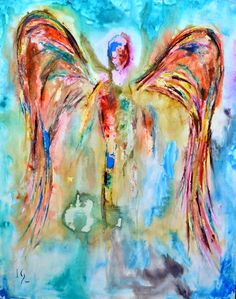 Azel. Tranquil and regal this peaceful angel uses calming colors and a rich frame to highlight its flowing technique, a true beauty. ANGEL PAINTINGS AND ANGEL ART Visit our page at http://www.ivanguaderrama.com/ Buy Angel Art Prints http://fineartamerica.com/profiles/ivan-guaderrama-art-gallery.html