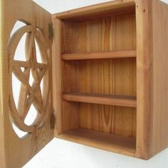 Altar Box-Pentacle Cabinet of Protection, Ritual Tool, Wiccan Pagan. $165.00