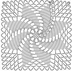 Beautiful Crochet Patterns And Knitting - Diy Crafts - DIY & Crafts Crochet Tablecloth Pattern, Crochet Doily Rug, Crochet Doily Diagram, Crochet Motif Patterns, Crochet Dollies, Crochet Bedspread, Crochet Borders, Crochet Squares, Thread Crochet