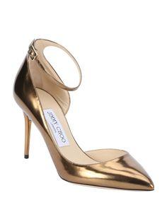 JIMMY CHOO Honey Gold Metallic Leather 'Lucy 85' D'Orsay Pumps'. #jimmychoo #shoes #pumps & high heels