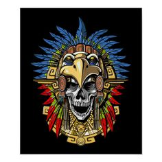 Aztec Headdress, Aztec Warrior Tattoo, Aztec Drawing, Mayan Mask, Eagle Skull, Aztec Mask, Mouth Mask Design, Dragons, Tattoo Coloring Book