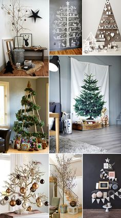 Alternative Christmas Trees #christmas #tree #original #diy #alternative #xmas