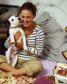 Natalie Portman and her Jack Russell Terrier