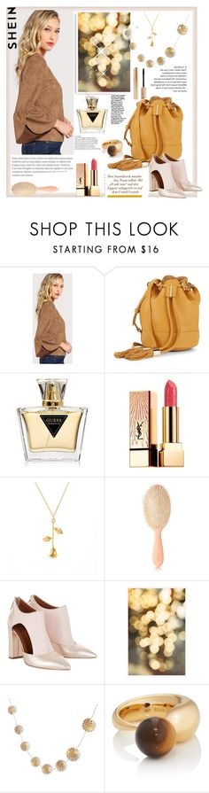 """Shein"" by natalyapril1976 on Polyvore featuring Mode, See by Chloé, GUESS, Yves Saint Laurent, AERIN, Pottery Barn, PBteen und KHIRY"