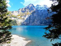 Der Oeschinensee - Idylle pur. Wanderlust, New Adventures, Rapunzel, Road Trip, Hiking, Mountains, Water, Places, Outdoor