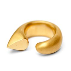 Gold Curve Cocktail Ring by De Anna Kiernan