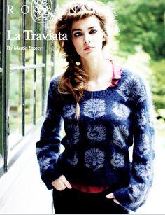 FREE ROWAN PATTERN, Fall 2013: La Traviata by Martin Storey made with Rowan Kidsilk Haze and Rowan Fine Lace held together.
