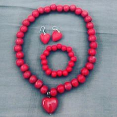 Red beads jewelry from Cotton Road Roanne Wortman 2017 collection