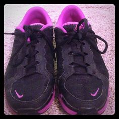Nike Gym Shoes No visible wear except the soles. Still in good condition. Gym shoes only, no pavement Nike Shoes Athletic Shoes