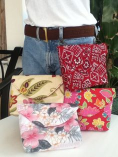 Hipsters!  Hip Purses - love this!  Great for summer vacations, like walking around an amusement park, when you don't want to haul an entire purse around!