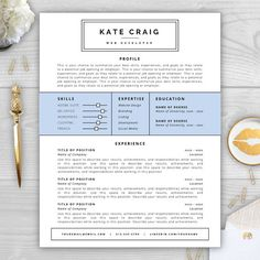 "The Modern Resume Resume Template And Cover Letter ""hyperion""  Cool Resume Designs ."