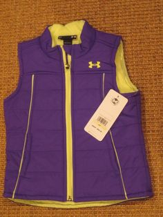 UNDER  ARMOUR  UA  GIRL'S  VEST JACKET  SIZE 4  PURPLE  ALL SEASON NEW  $59 TAG #UnderArmour #Vest