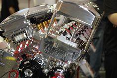 All billet bullet 4000 hp twin turbo engine