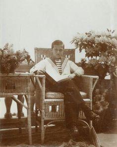 Tsarevich Alexei Nikolaevich Romanov of Russia at Livadia in 1913.A♥W