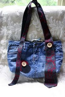 """Pants & tie"" purse!  (one of my designs)"