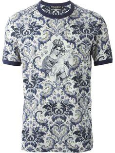 Dolce & Gabbana Baroque Print T-shirt - Dell'oglio - Farfetch.com