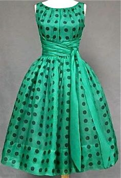 Green Organdy Cocktail Dress