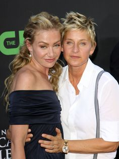Being happy and peaceful and proud  ... No matter how or with who... Ellen and Portia!!
