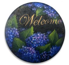 Hydrangea Stepping Stone packet - Patricia Rawlinson – Tole and Decorative Painting Online Store Painted Stepping Stones, Painted Pavers, Painted Rocks Kids, Paver Stones, Pebble Painting, Tole Painting, Pebble Art, Hydrangea Painting, Diy Bead Embroidery
