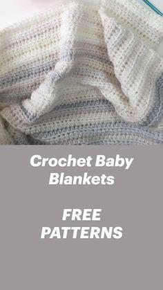 Crochet Baby Blanket Free Pattern, Crochet For Beginners Blanket, Baby Afghan Crochet, Crochet Baby Shoes, Newborn Crochet, Afghan Crochet Patterns, Crocheted Baby Blankets, Double Crochet Baby Blanket, Crochet Stitches