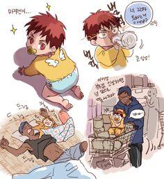 aomine and baby kagami