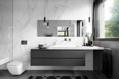 contemporary bathroom Urban House by Studio Makom Bathroom Design Layout, Bathroom Design Luxury, Modern Bathroom Design, Bathroom Colors, Contemporary Bathroom Designs, Modern Bathroom Decor, Bathroom Styling, Bathroom Ideas, Bad Inspiration