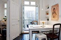 Cozy Swedish Apartment With Charming Wood-Burning Fireplace