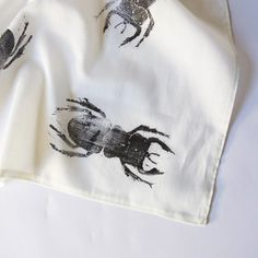 CULT OF ONE hand printed beetle bandana on hand woven indian cotton