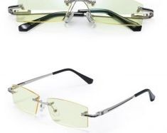 Štýlové okuliare bez rámika na prácu s PC aj nočnú jazdu6 Sunglasses, Fashion, Moda, Fashion Styles, Sunnies, Shades, Fashion Illustrations, Eyeglasses, Glasses