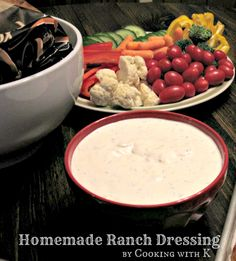 Cooking with K | Southern Kitchen Happenings: Homemade Ranch Dressing {Originally started out in the South being called Buttermilk Dressing}