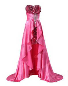 2014 New Ladies Sweetheart Strapless Short Front Long Back Prom Dress fashion Wedding Party Gown Formal Evening Dresses CL6012-in Evening Dr...