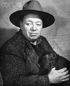 Diego Rivera and dachshund
