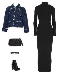 """""""Untitled #5568"""" by amberelb ❤ liked on Polyvore featuring Jeffrey Campbell, Balmain, GUESS by Marciano and Miu Miu"""