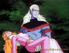 Prince Lotor and Princess Allura from Voltron: Defender of the Universe.  I wanted to be Princess Allura so bad, you know, so I could drive an awesome mechanical lion, kill ro-beasts and annihilate Prince Lotor for his evilness and shoddy taste in clothing.