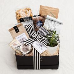Wine Gift Baskets, Gift Basket Ideas, Organic Gift Baskets, Thank You Gift Baskets, Housewarming Gift Baskets, Wine Gift Boxes, Black Gift Boxes, Gift Ideas, Client Gifts