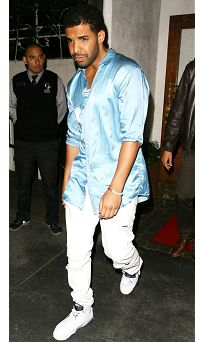 FASHION by REHAB ONLINE MAGAZINE Look of the week: Drake in Silk Metallic Blue