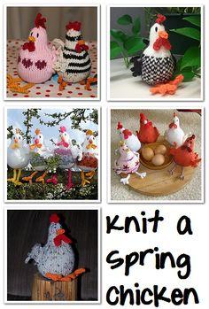 Easy FREE Spring Chicken Knitting Pattern Download