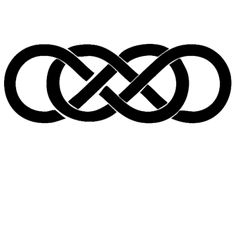"""Double Infinity sticker - 4"""" long  Also comes in a 2"""" sticker: http://nvy.gd/Y6L0RP  • Made with safe vinyl that won't damage the surface • Removable but cannot be repositioned"""