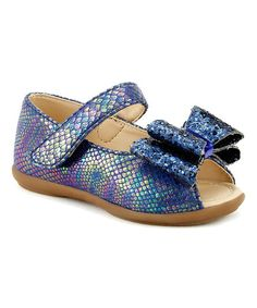 Another great find on #zulily! Blue Glitter Bow Peep-Toe Mary Jane #zulilyfinds