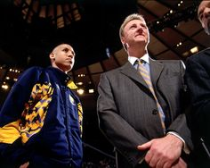Reggie Miller 1997-1998 Season: Rejuvenated by the addition of new Head Coach Larry Bird, a new teammate in Chris Mullin, and the growth of Jalen Rose, the Pacers vaulted to a club-best NBA record of 58-24. Reggie shot a career-best.429 shooting from 3-point range. In the playoffs, the Pacers marched through the first two rounds before squaring off against the defending champion Chicago Bulls.