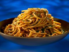 Alex's Anchovy Bucatini recipe from Guy Fieri via Food Network
