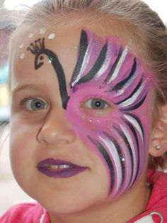 Peacock Face Painting, Girl Face Painting, T Shirt Painting, Face Painting Designs, Painting For Kids, Body Painting, Batman Face Paint, Easter Face Paint, White Wall Decor